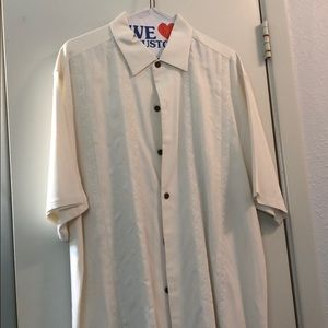 White Casual Short Sleeve Shirt